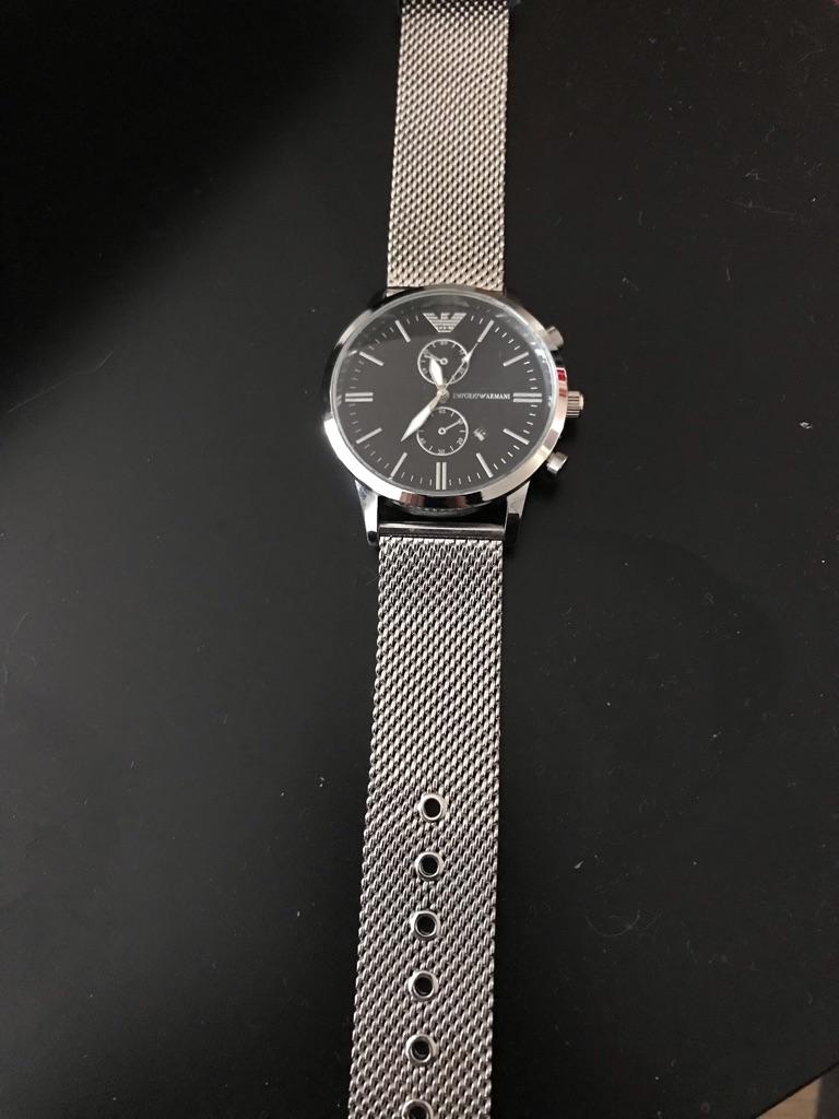 New Armani metal watch