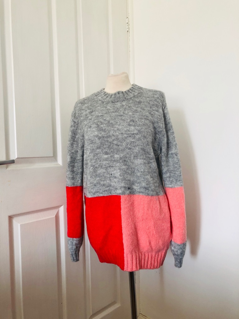 Women's pink grey jumper by next Sizes M & L