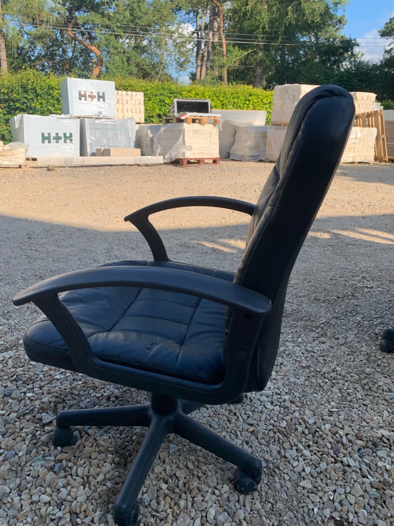 Black leather-look chair