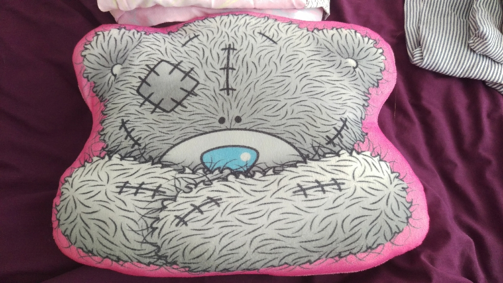 Tatty Teddy cushion