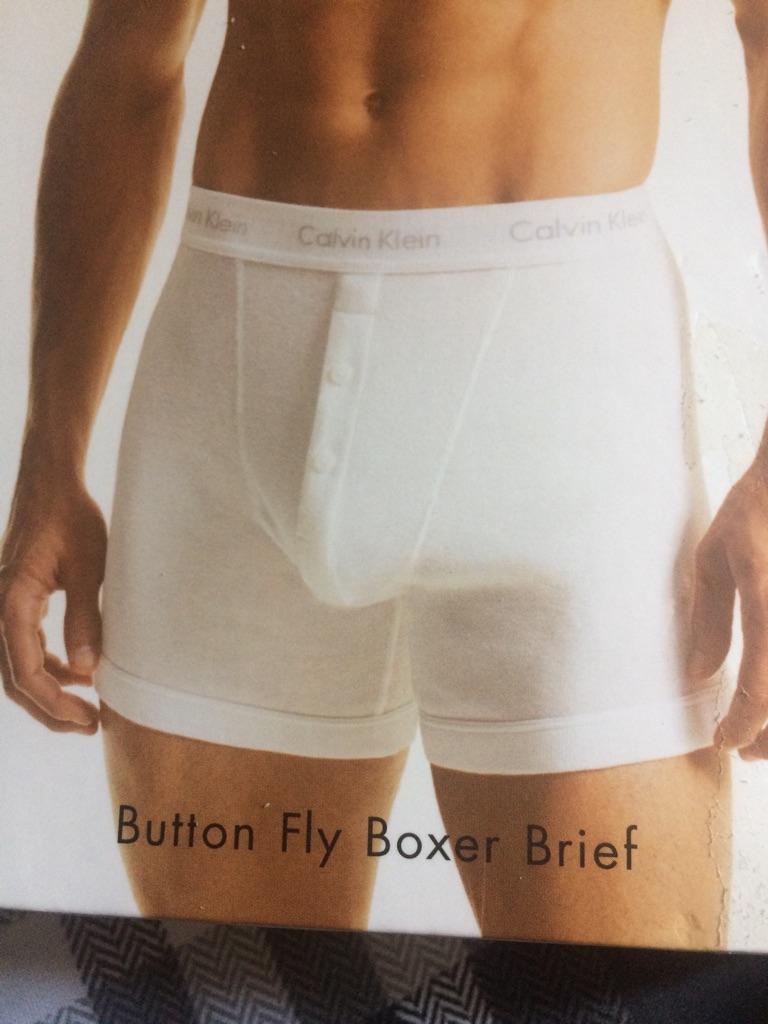 Men 1 white Calvin Klein boxers