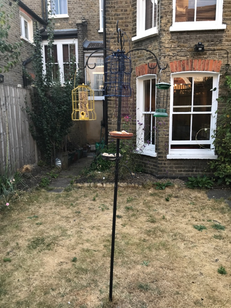 Bird station with brand new squirrel proof feeders