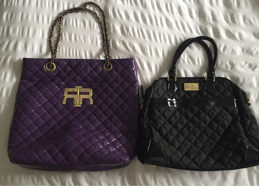 River island bag and Paul's boutique bag