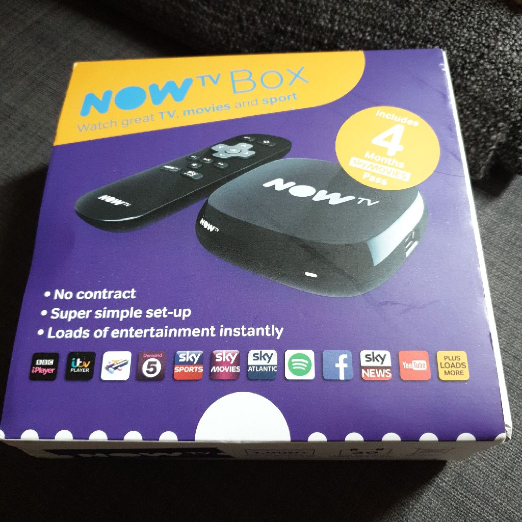 Now TV box and remote