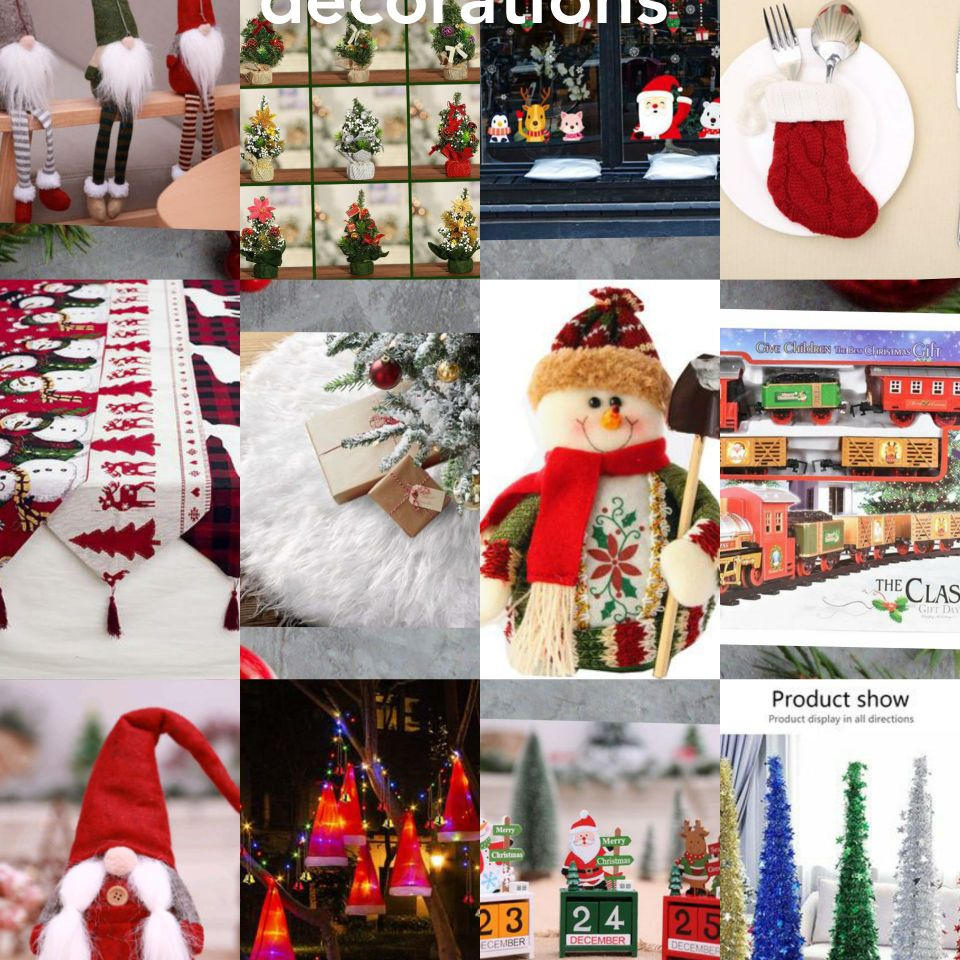 Selection of our gorgeous xmas decorations