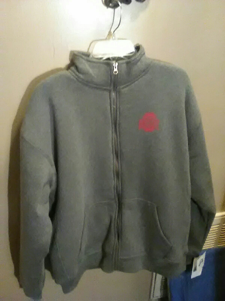 Size XL Zip Up Ohio State Hoodie
