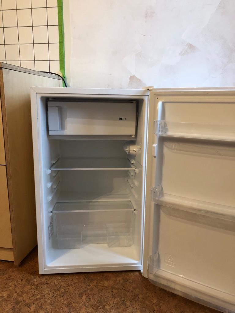 Under counter white fridge freezer
