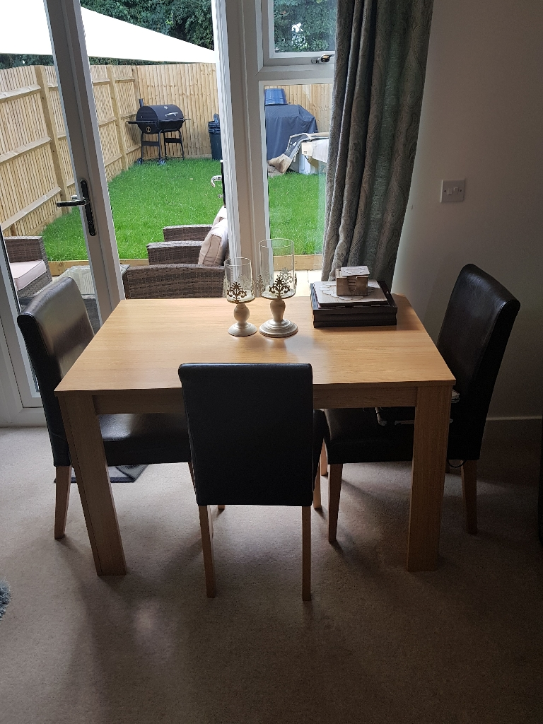 Dining table x 3 chairs