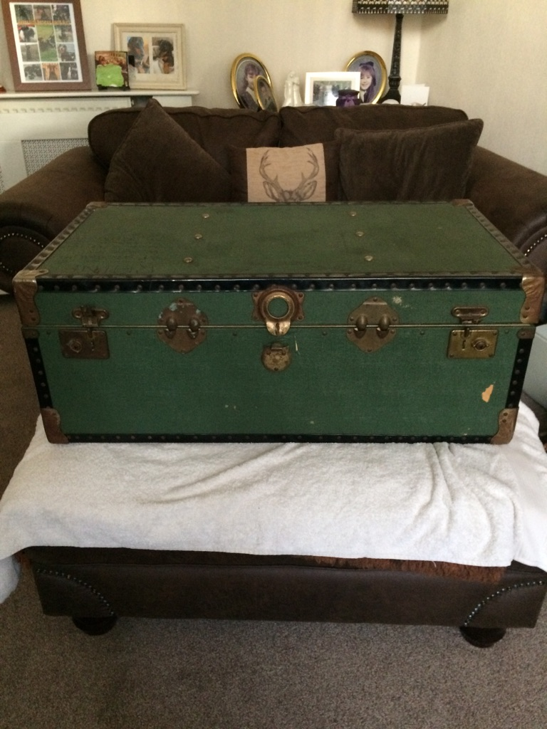 Old green chest need restored