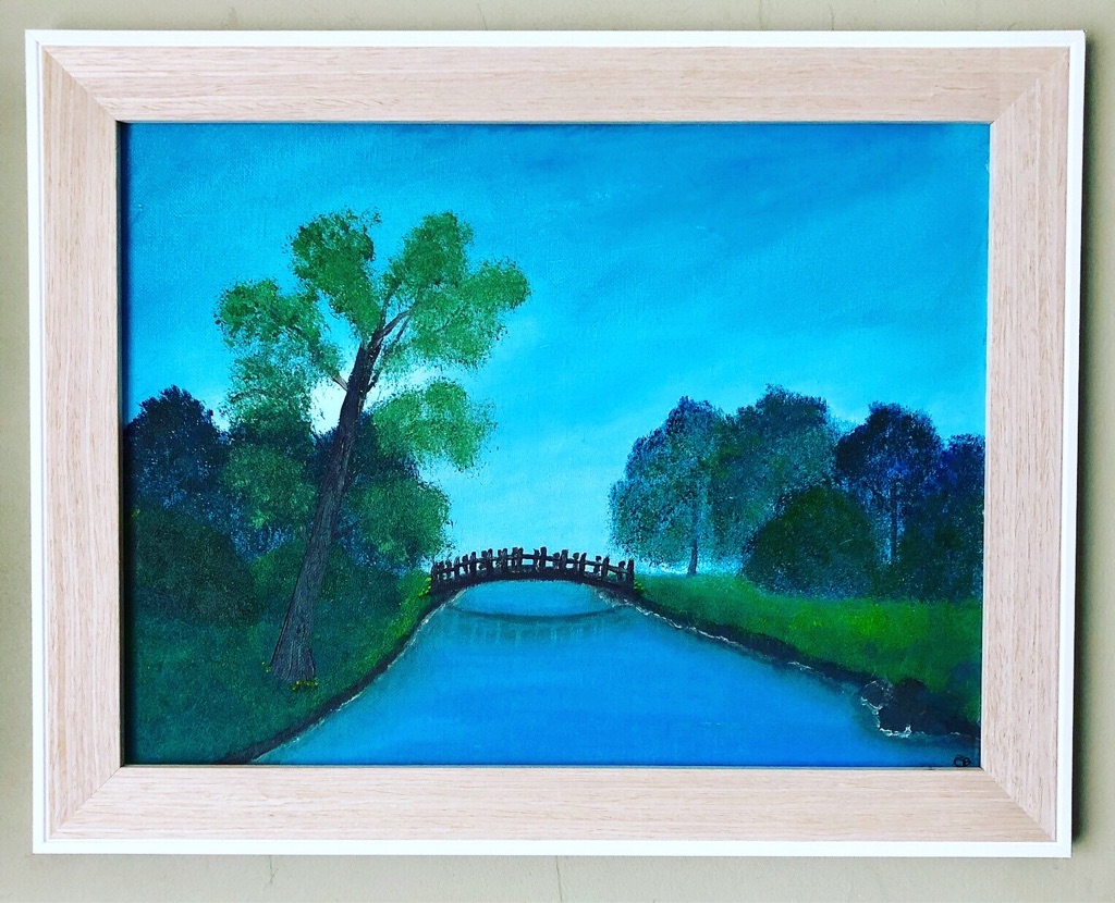 The Quiet River - Original Framed Oil Painting 37.5x47.5cm