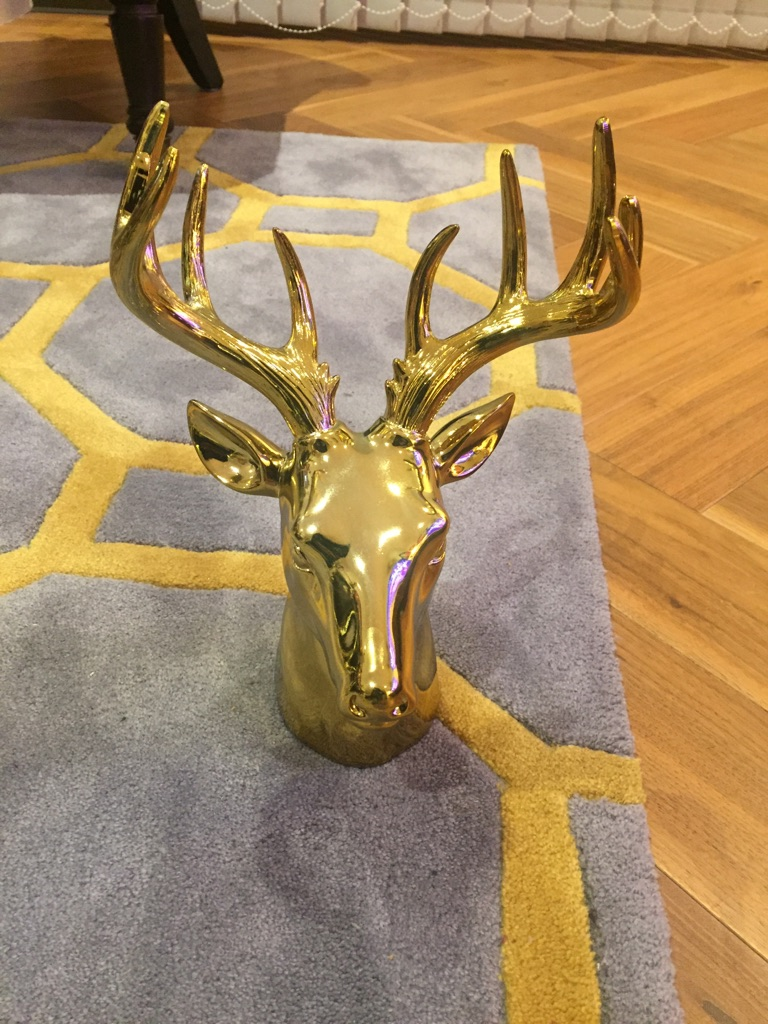 Gold stag for home decoration