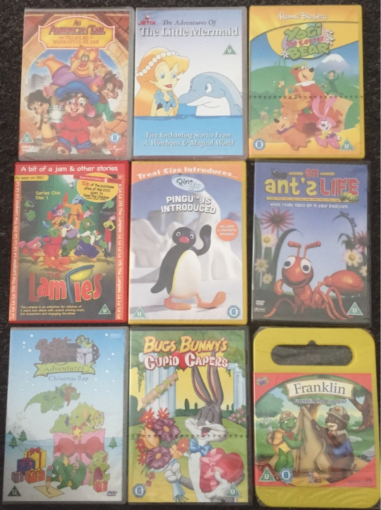 X27 kids DVD's brand new and factory