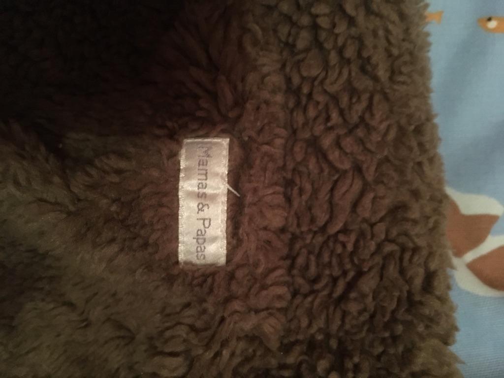 Mamas & Papas fleece lined leather like jacket. Age 9-12 months