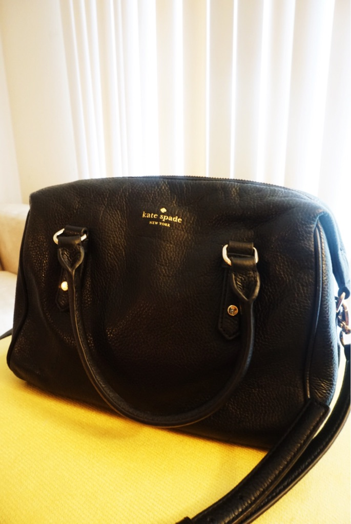 Authentic Kate Spade New York Two-Way Black Leather Bag