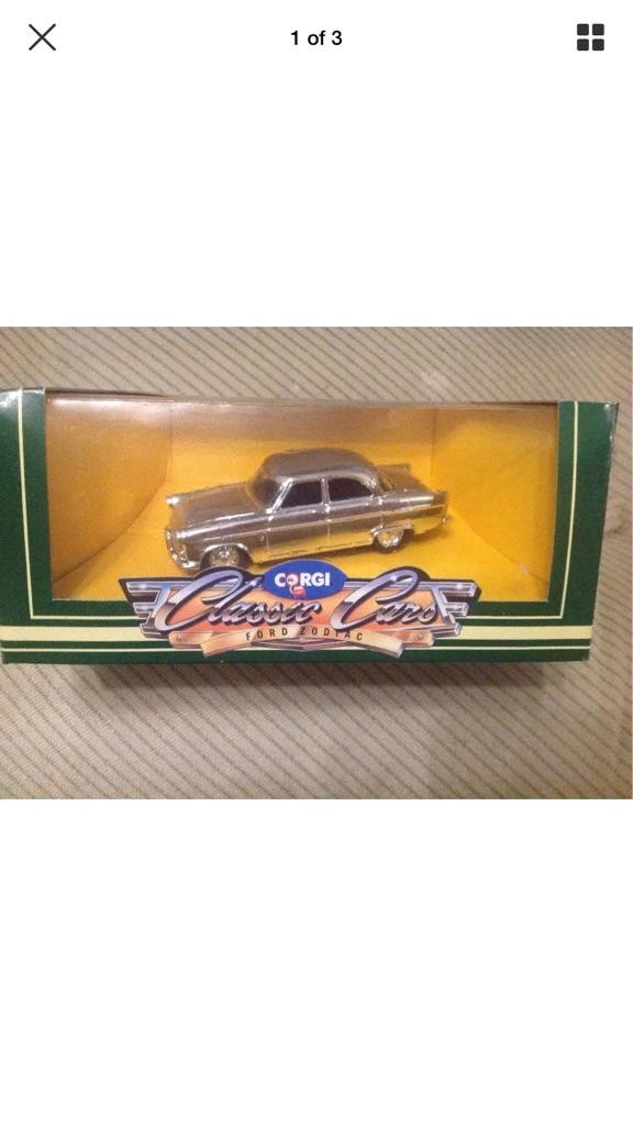 Corgi Silver Plated Ford Zodiac Mega Rare