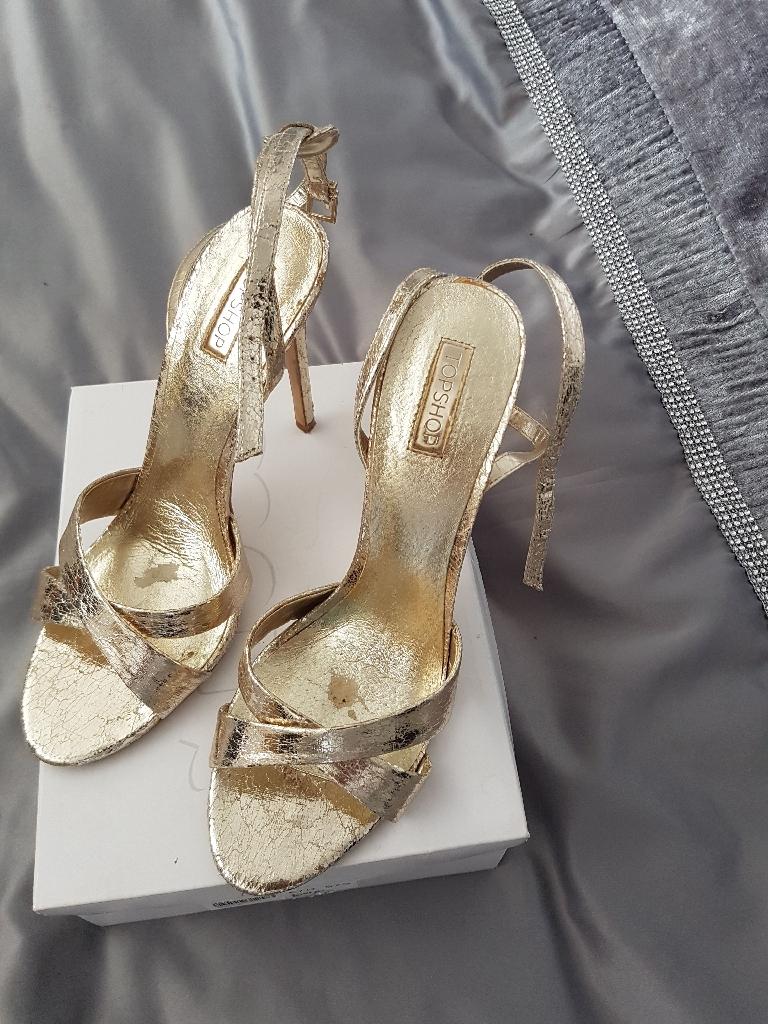Top shop gold sandal size 7