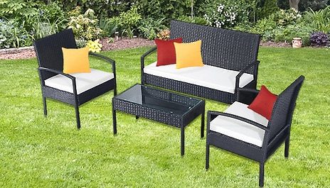 4-Piece Rattan Garden Furniture Set was £399 now £169 inc delivery