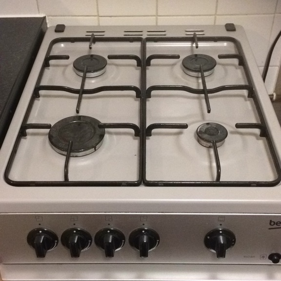 Beko grey/silver GAS cooker
