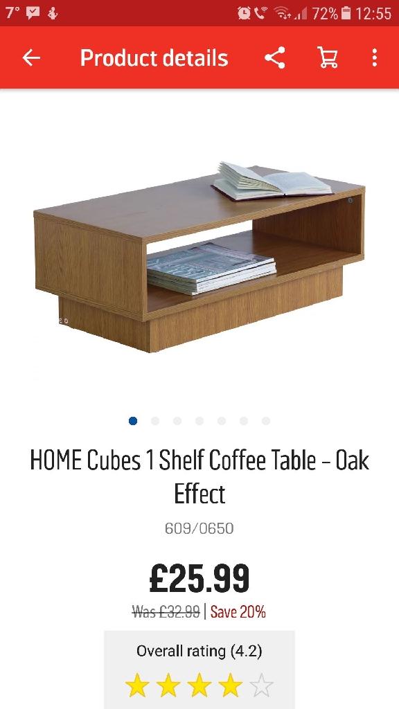 Argos Cubes Coffee table.