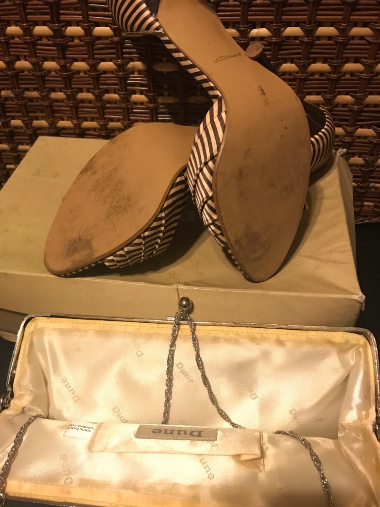 Dune size 6 shoe and evening bag