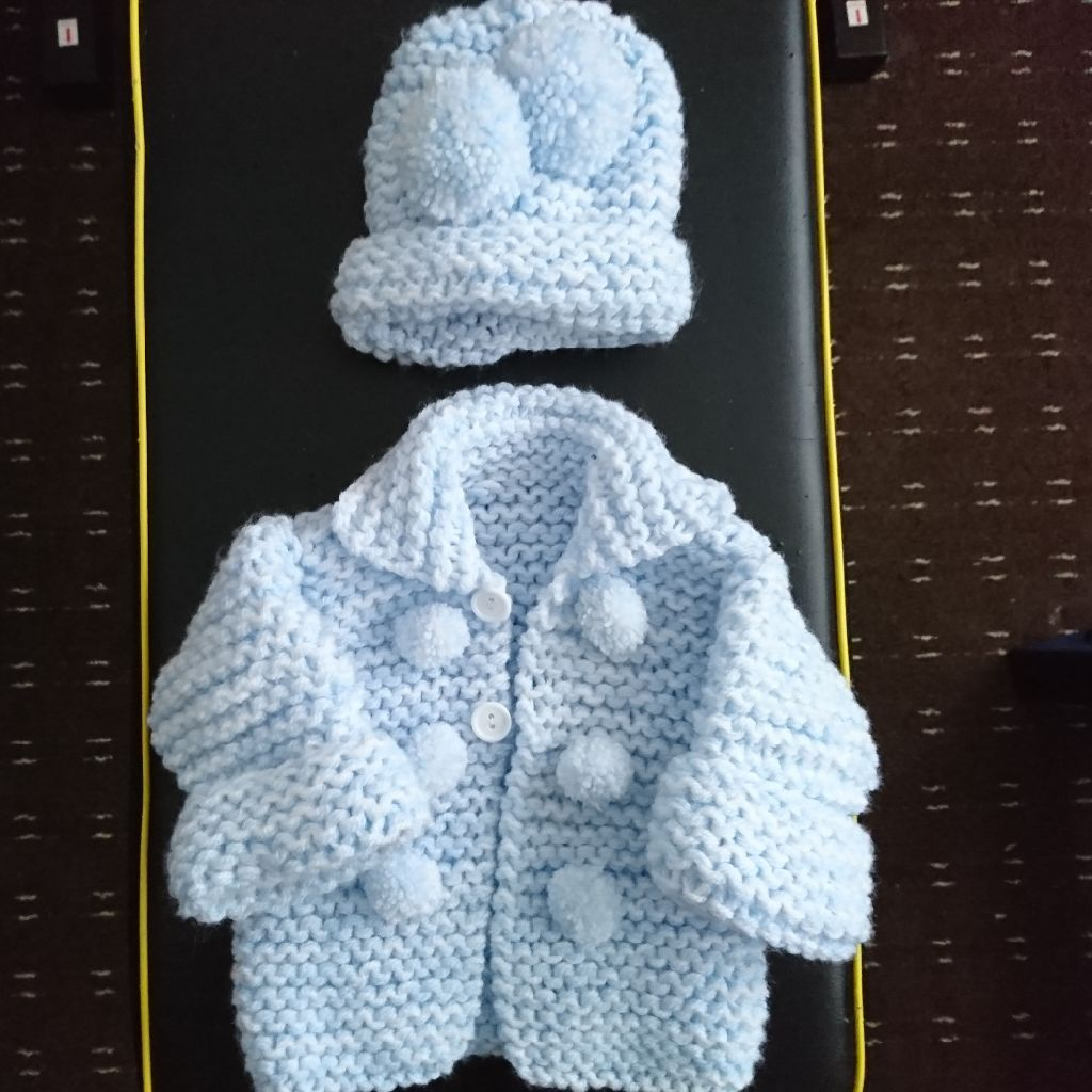 Beautiful knitted coat and hat