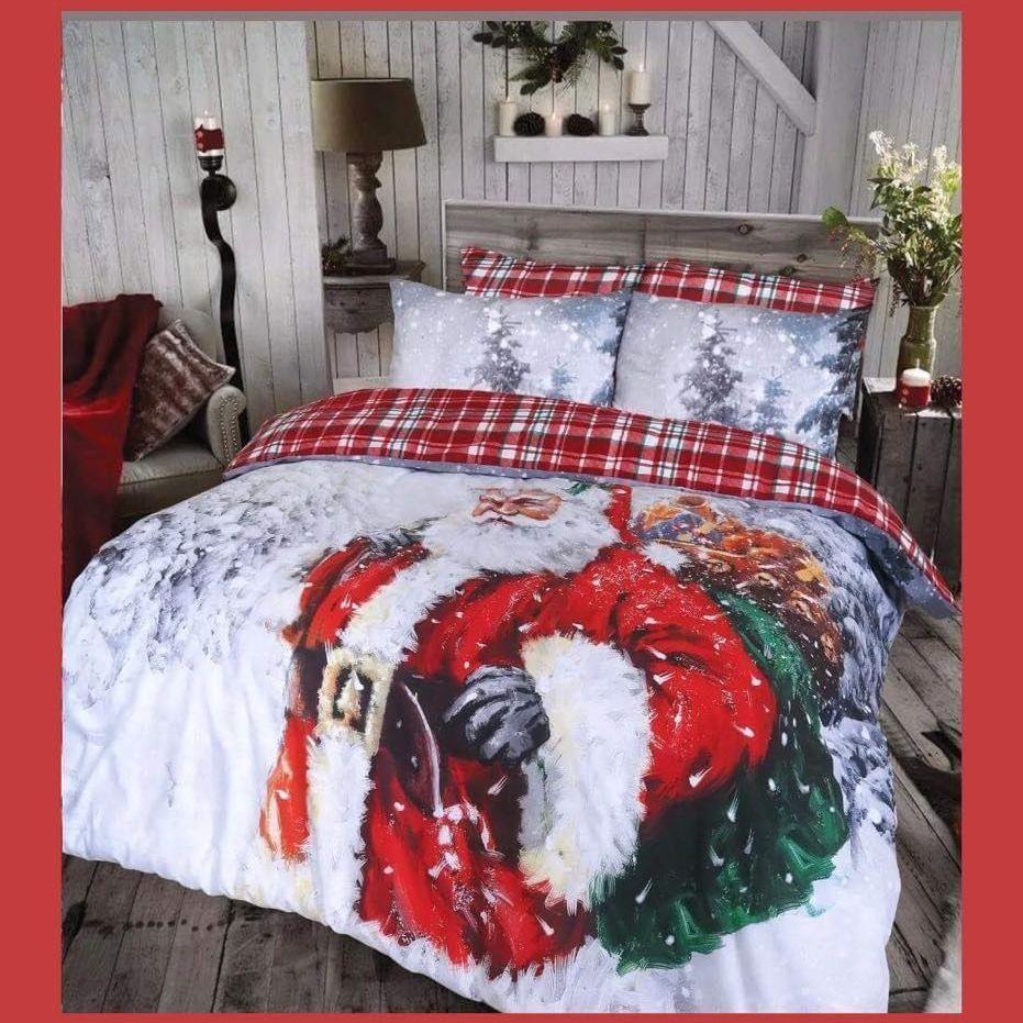 Traditional santa duvet set