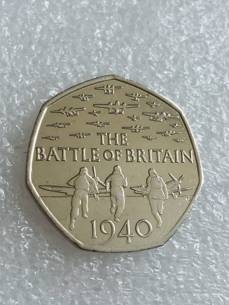 50p coin the Battle of Britain 2015.