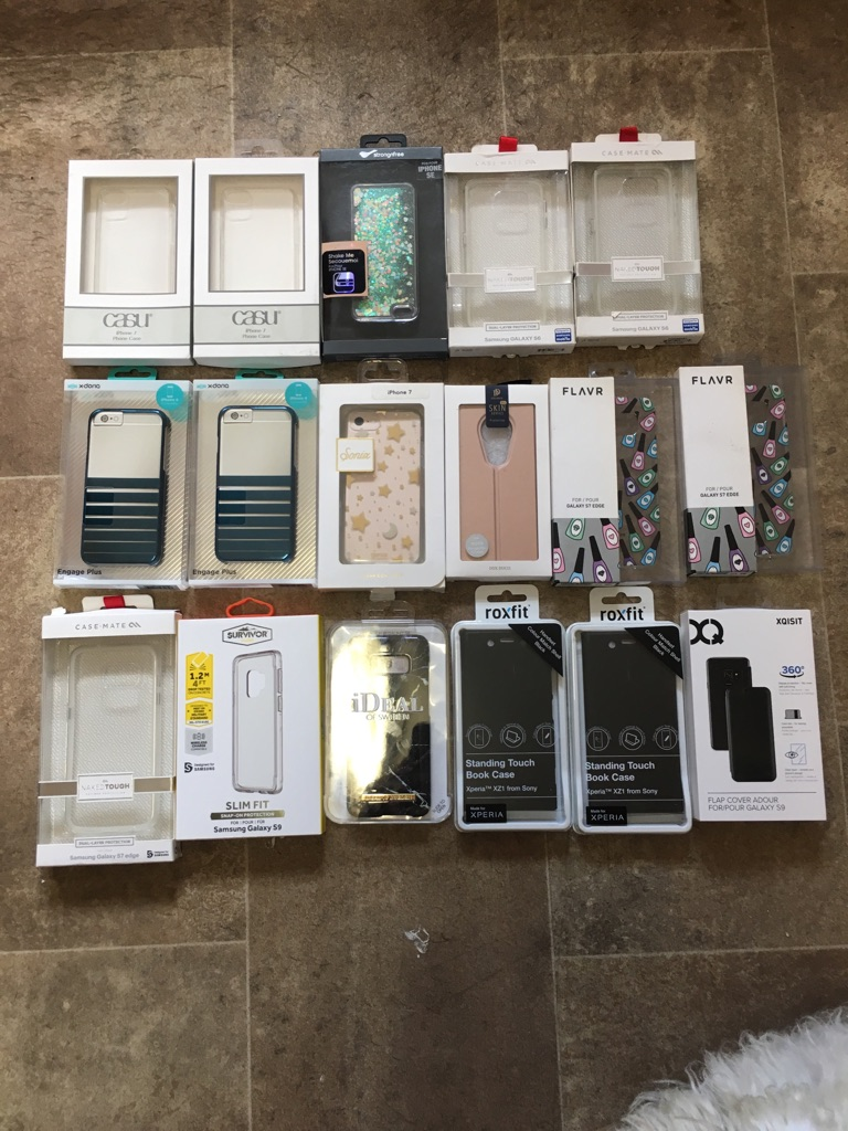 Phone cases various all new and sealed