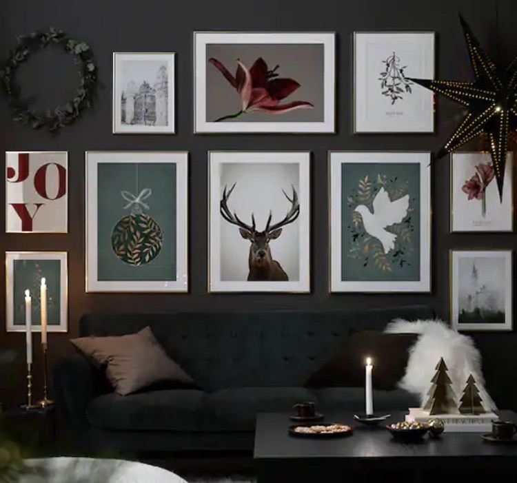Get festive with theses wall art prints
