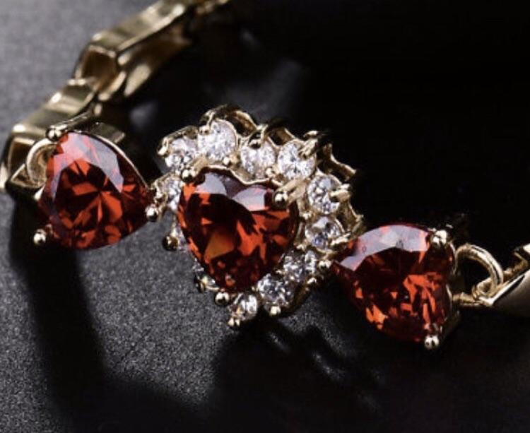 Tiffany 18ct gold ruby and Diamond bracelet