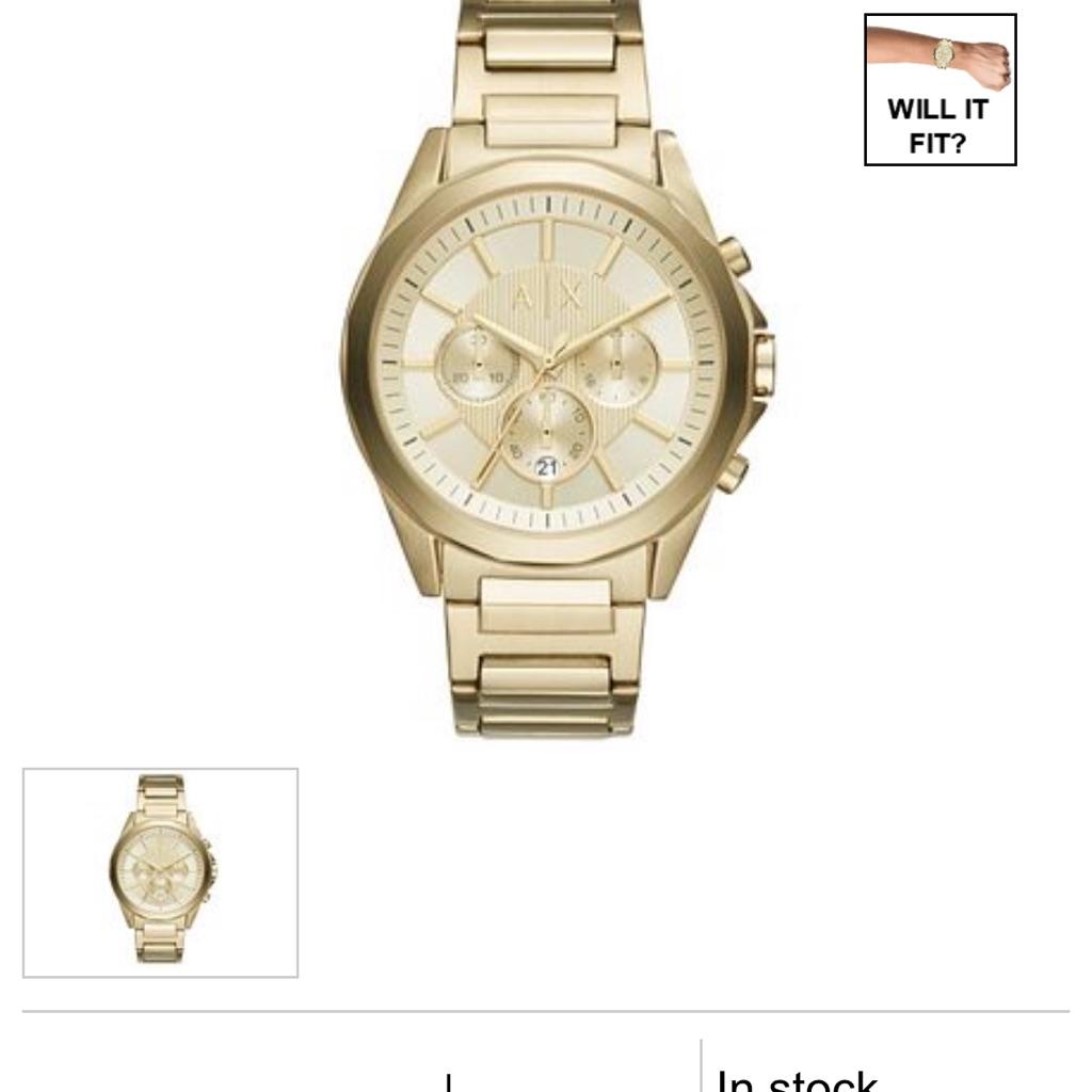 Gold Armani watch