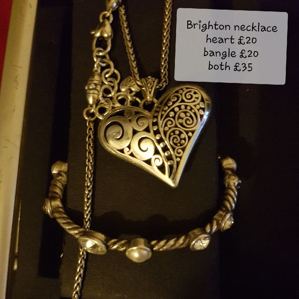 Brighton heart necklace and bracelet