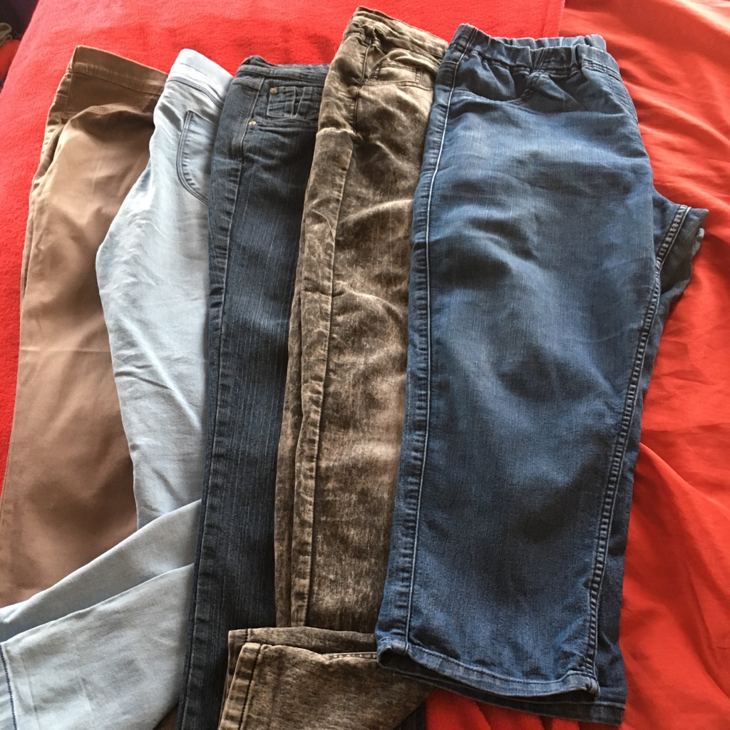 Selection of jeans/jeggings size 16