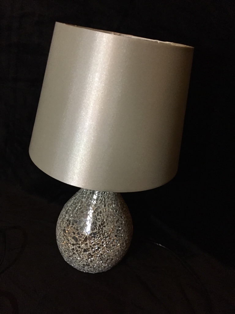 Chunky glass lamp