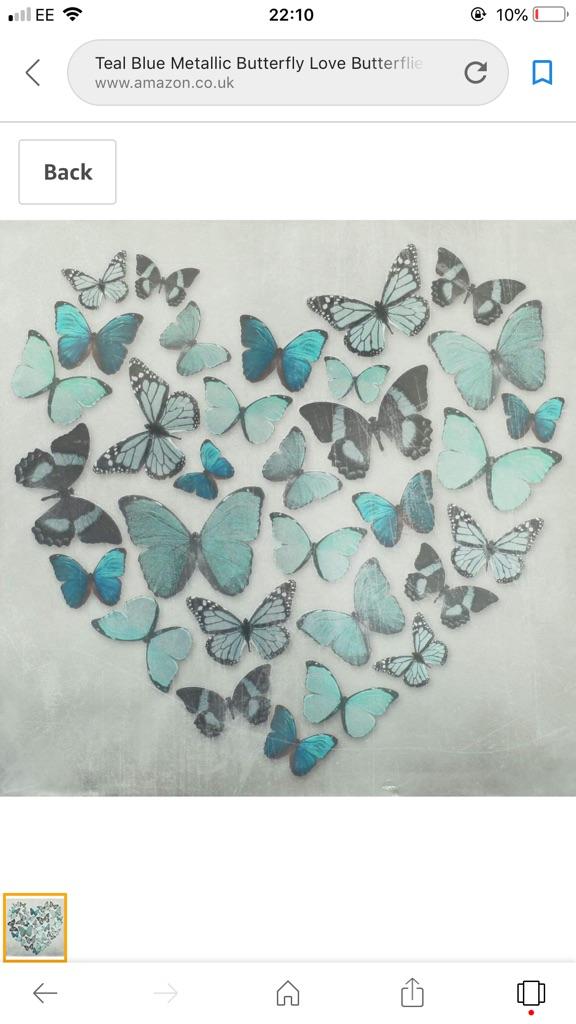 Canvas metallic butterflies