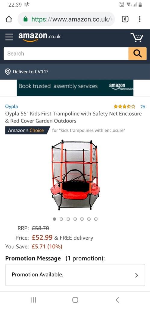 "Kids trampoline 55"""