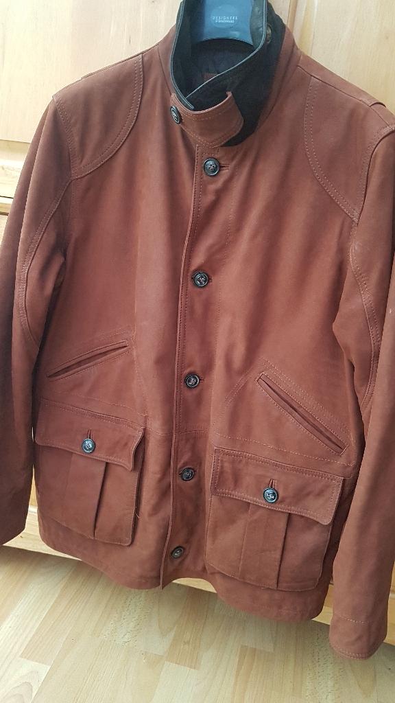 XL mens genuine leather jacket
