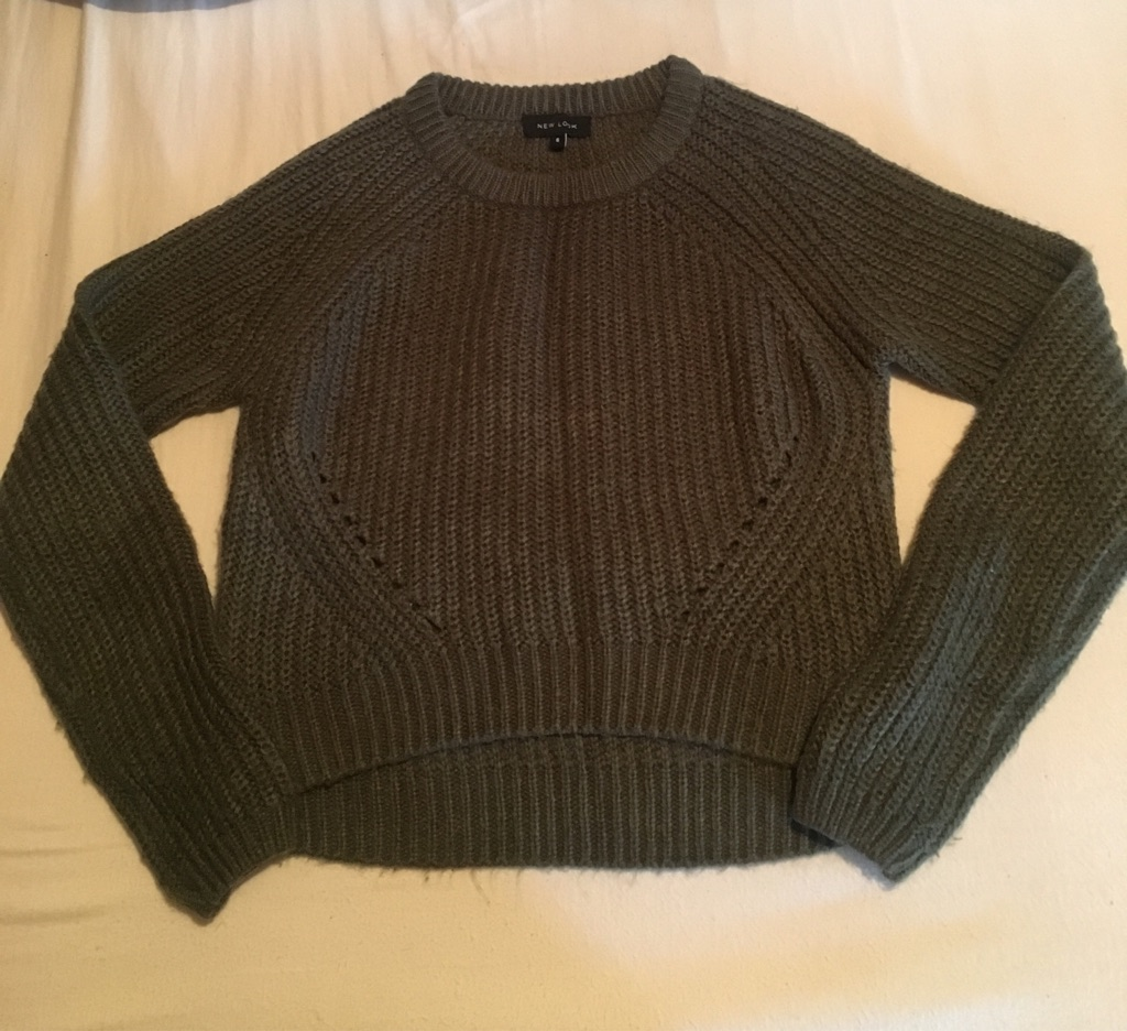 New Look Green Cropped Size 6 Jumper
