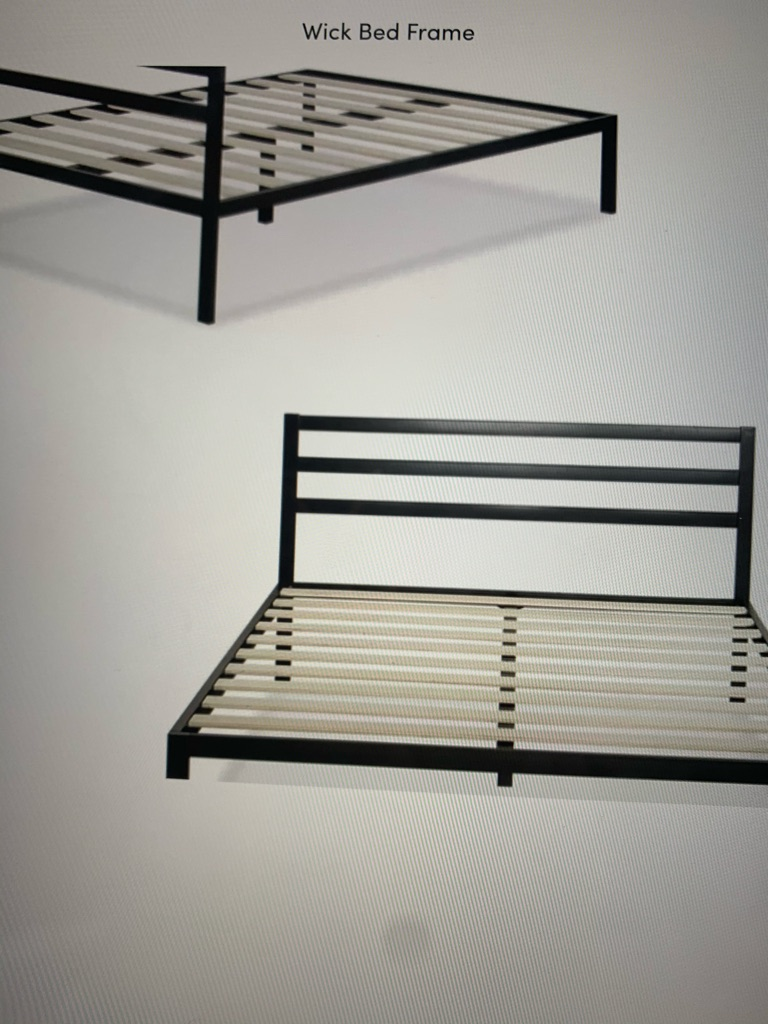 Super king size bed with memory foam mattress