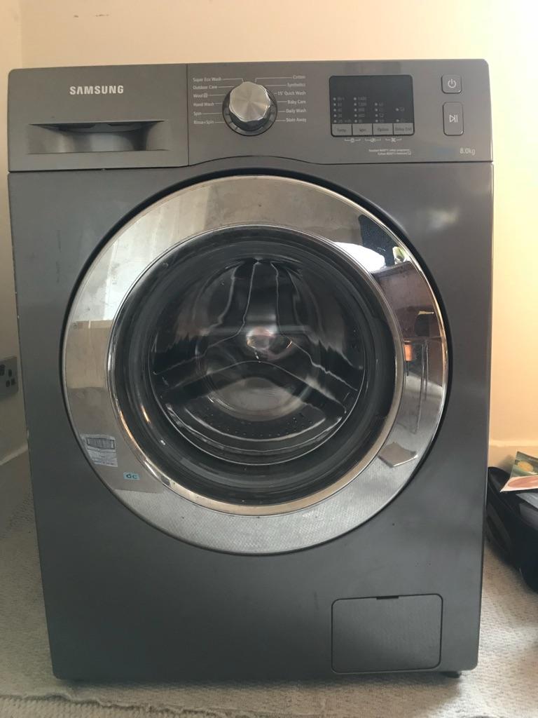 Samsung Ecobubble 8kg Washing Machine - Graphite
