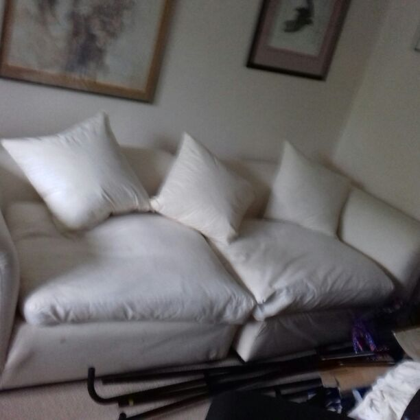 Cream 3-4 seater sofa