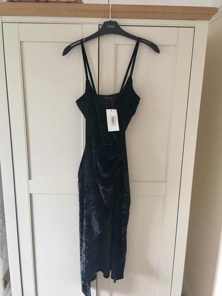 BNWT Black velvet dress