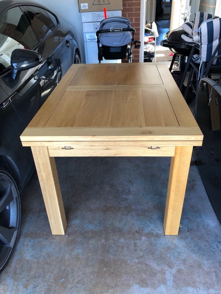 Extendable dinning room table