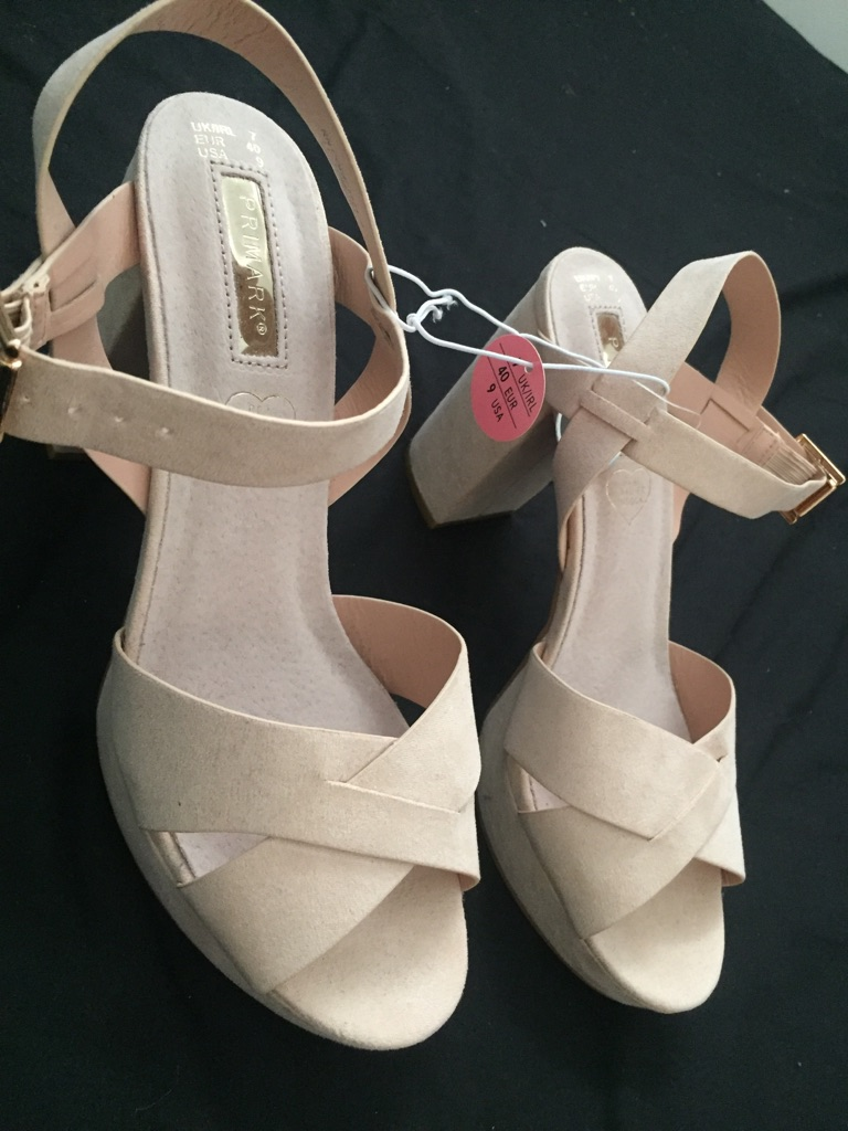 Baby Pink Wedges, Size 7