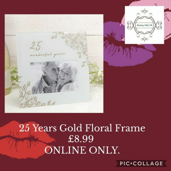 25 Years Gold Floral Frame