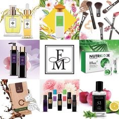 Fm products, perfumes, etc