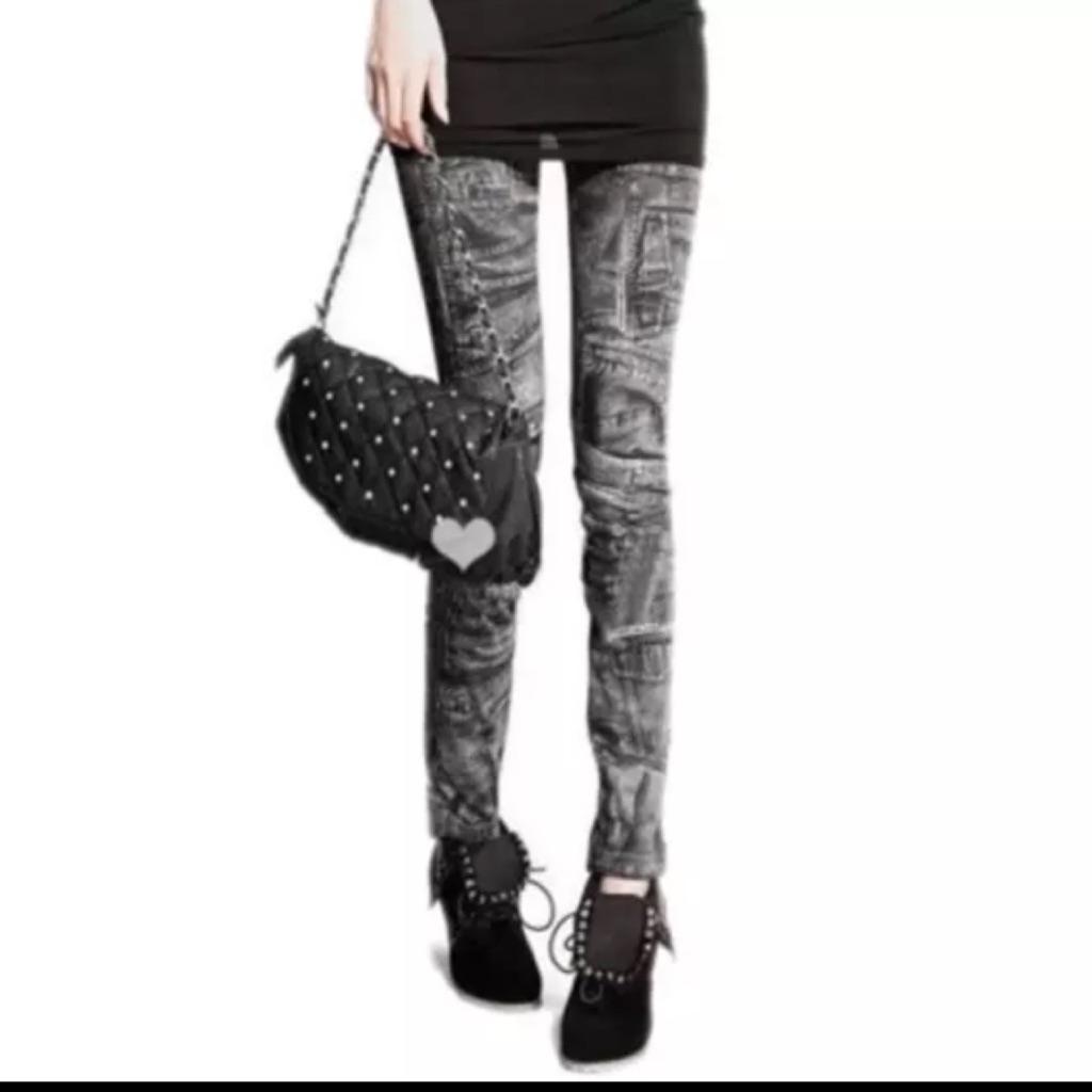 Black New Women Fashion Leggings uk10