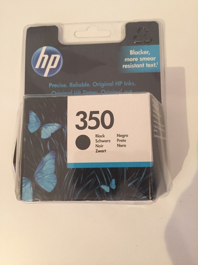 Hp ink 350 black original unopened in the box