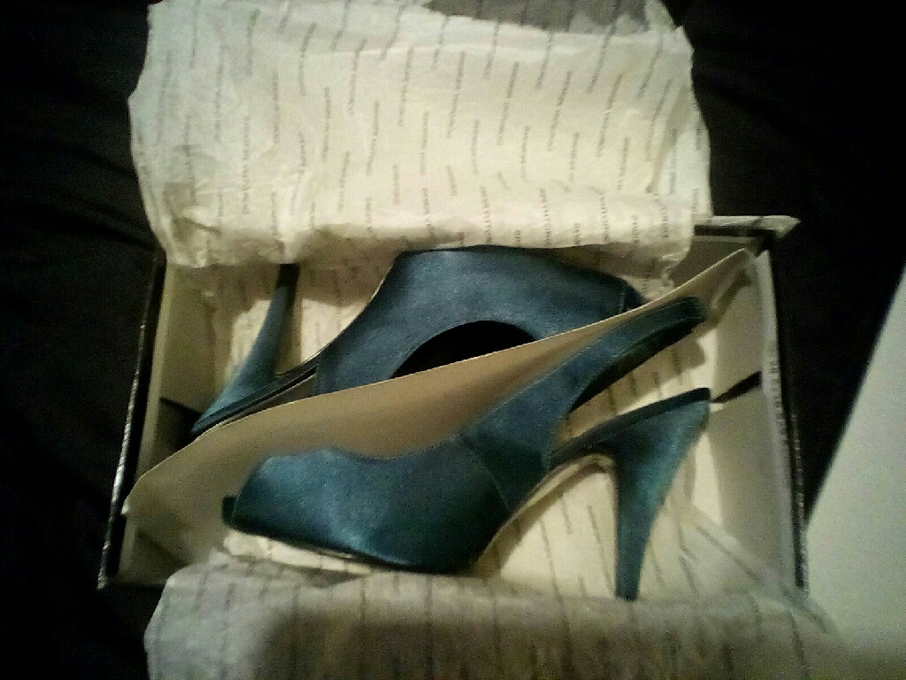 Dorothy Perkins Green Slingback Shoes Size 7