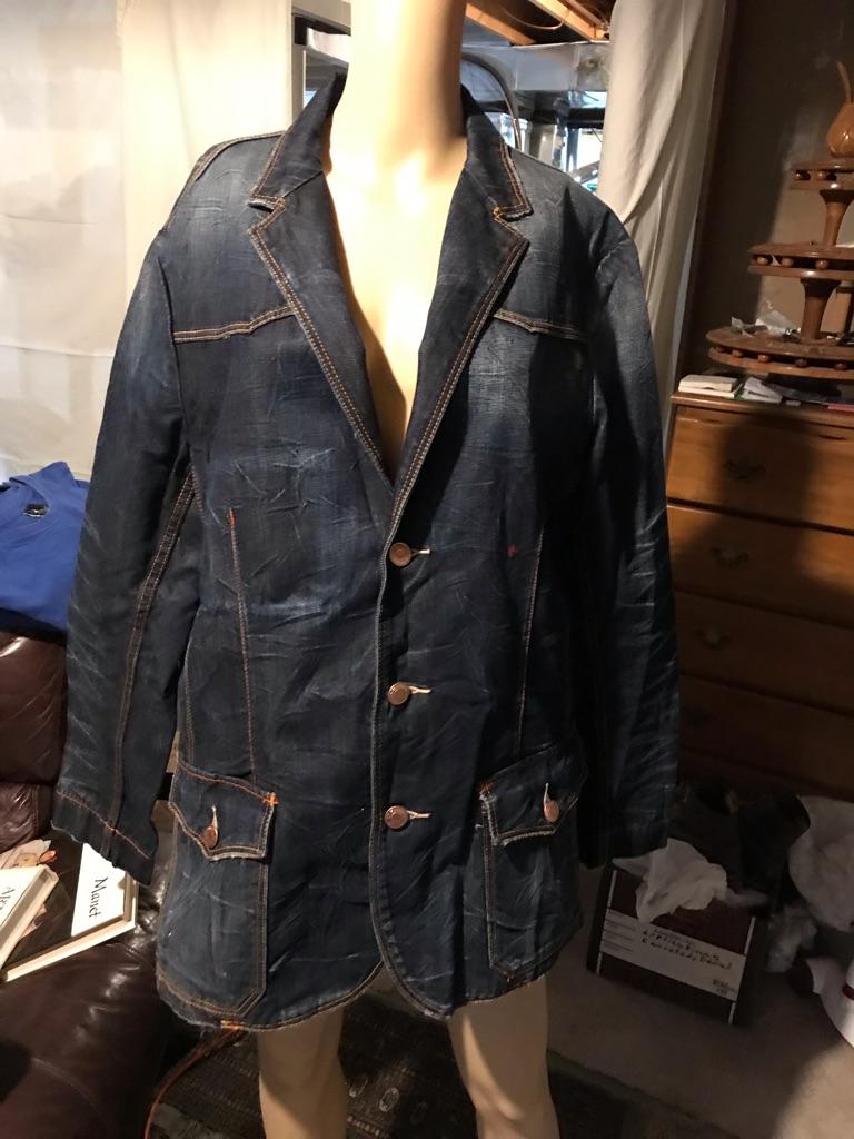 Vintage Ed Hardy Denim Blazer Jacket